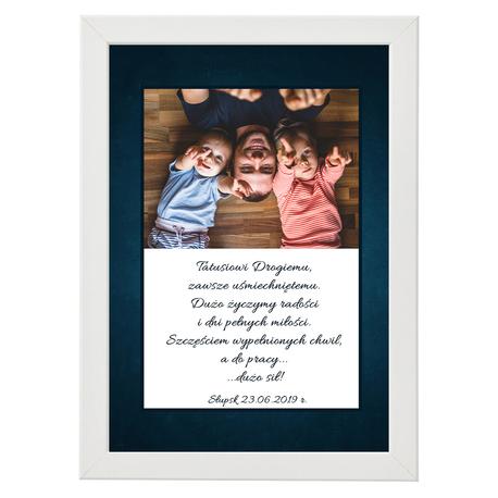 Prezent plakat ze zdjęciem na Dzień Ojca, taty - rama (1)
