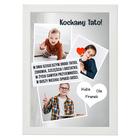 Prezent plakat ze zdjęciem na Dzień Ojca, taty - rama (2)